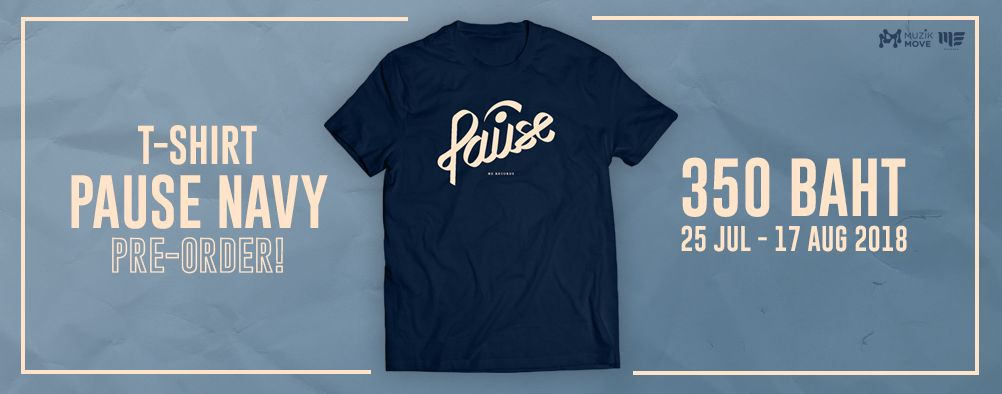 Pre-Order T-Shirt PAUSE NAVY