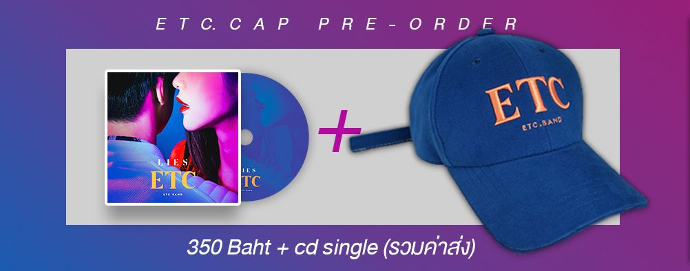 PRE ORDER  CAP ETC -Blue + CD single LIES