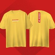 MME T-Shirt Over Size Me Records - yellow