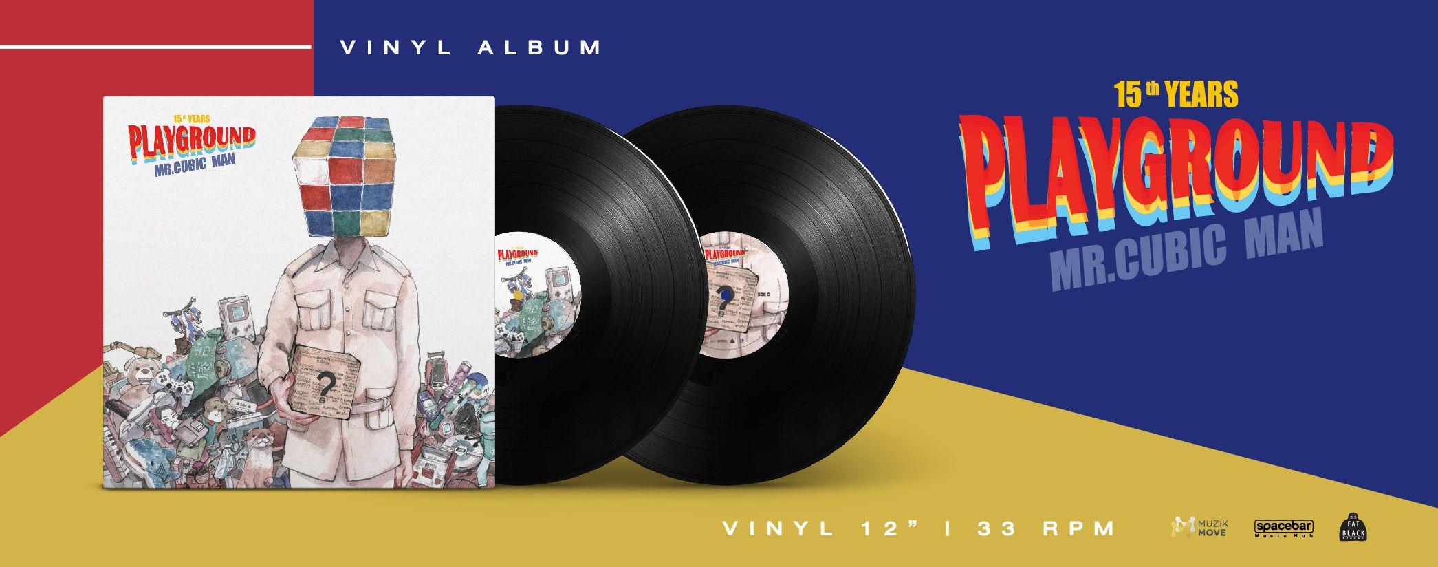 "PLAYGROUND ""MR. CUBIC MAN 15 Years Ago"" Album Vinyl"